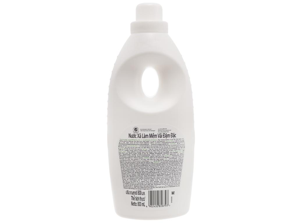 Nước xả vải Downy cho da nhạy cảm hương sả chai 800ml 2