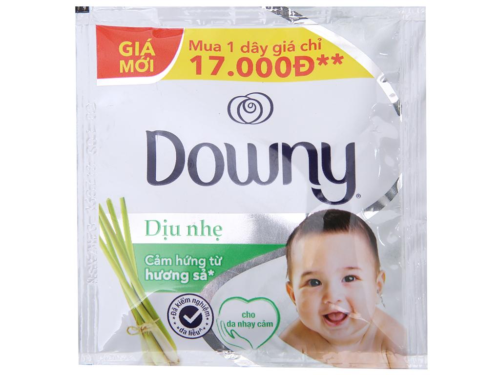 9 gói nước xả vải Downy dịu nhẹ hương sả 21ml 1