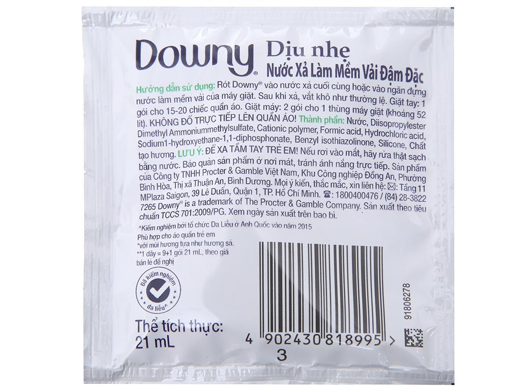 9 gói nước xả vải Downy dịu nhẹ hương sả 21ml 2