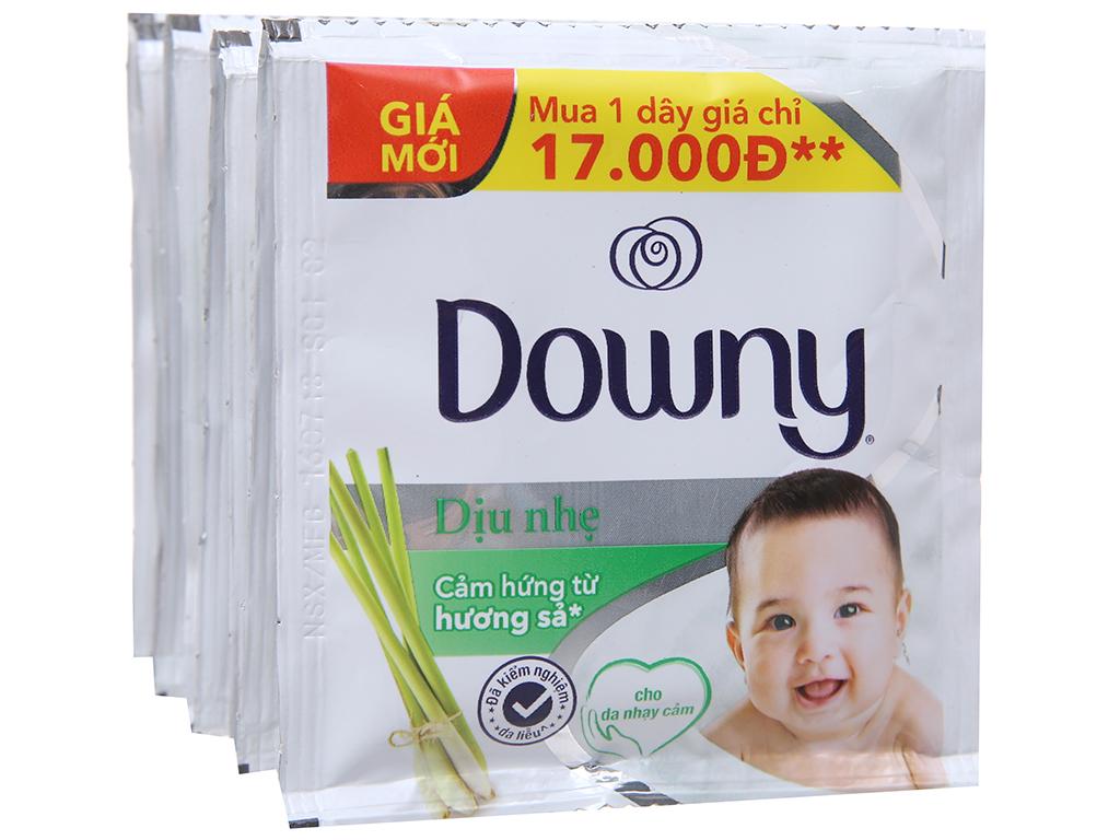 9 gói nước xả vải Downy dịu nhẹ hương sả 21ml 3
