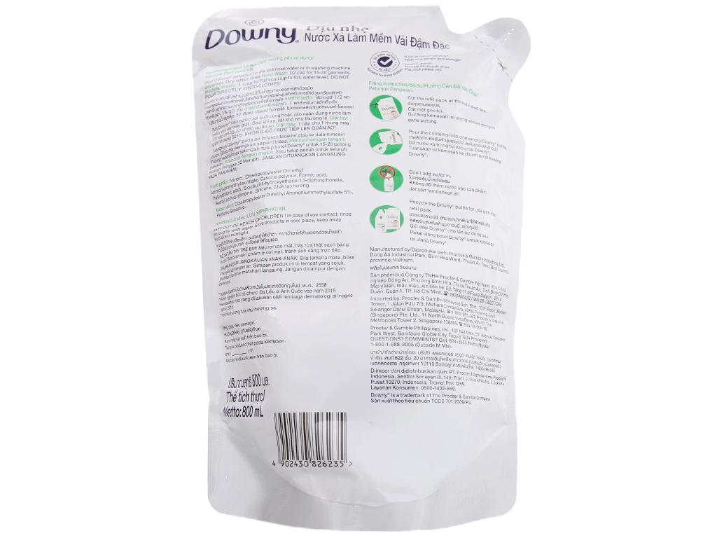 Nước xả vải Downy cho da nhạy cảm hương sả túi 800ml 2