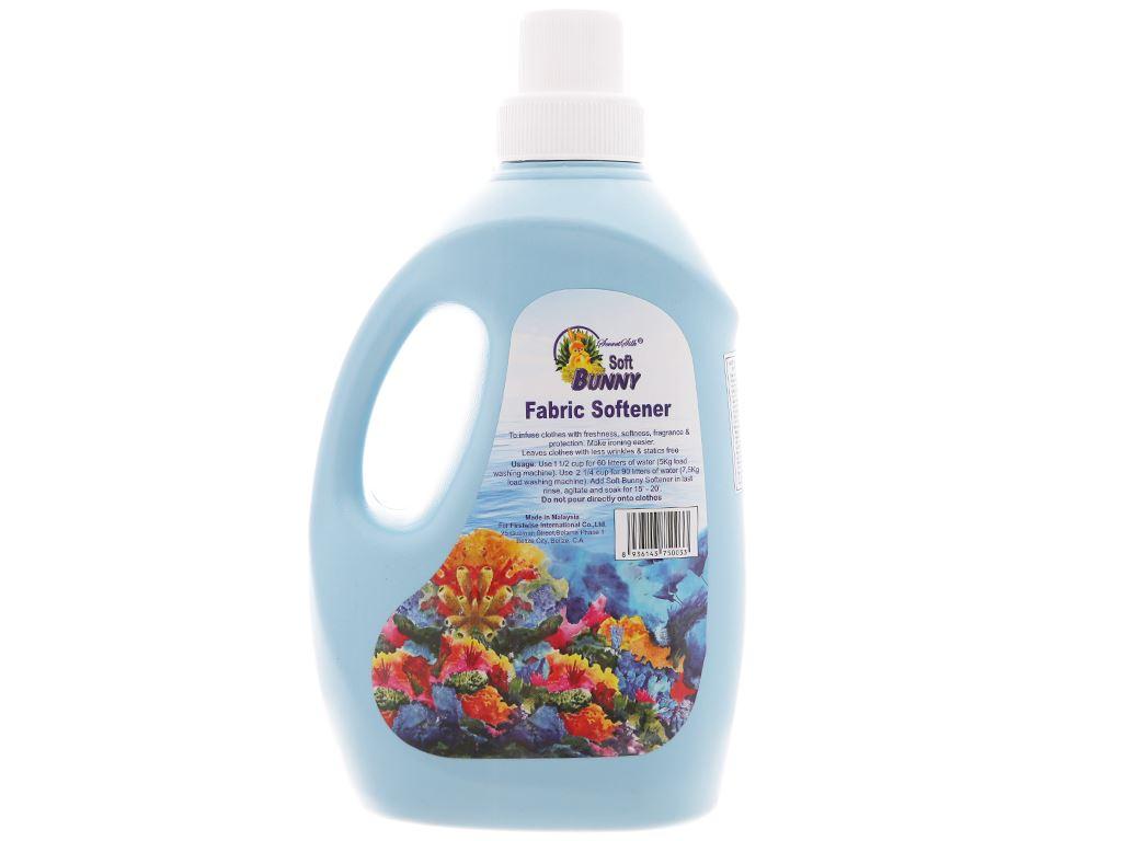 Nước xả vải Soft Bunny xanh biển chai 1.9 lít 2