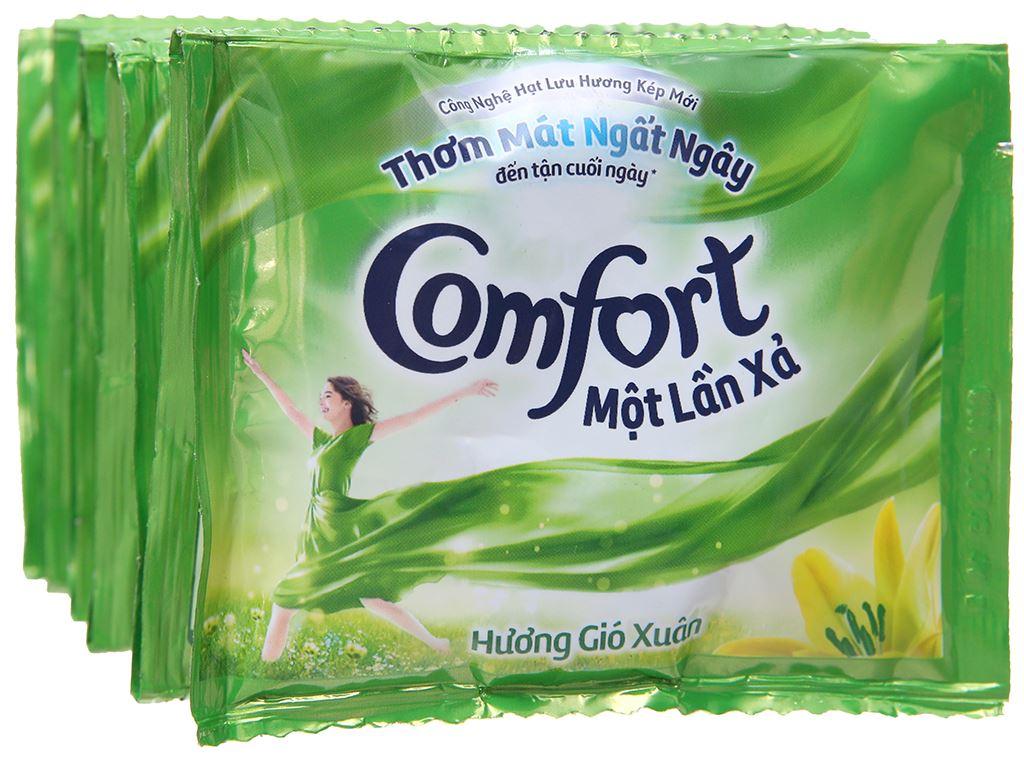 10 gói nước xả vải Comfort một lần xả hương gió xuân 20ml 3