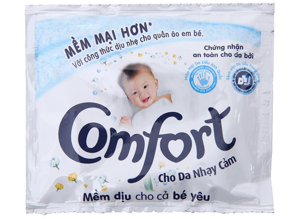 10 gói nước xả vải Comfort cho da nhạy cảm hương phấn 20ml 2
