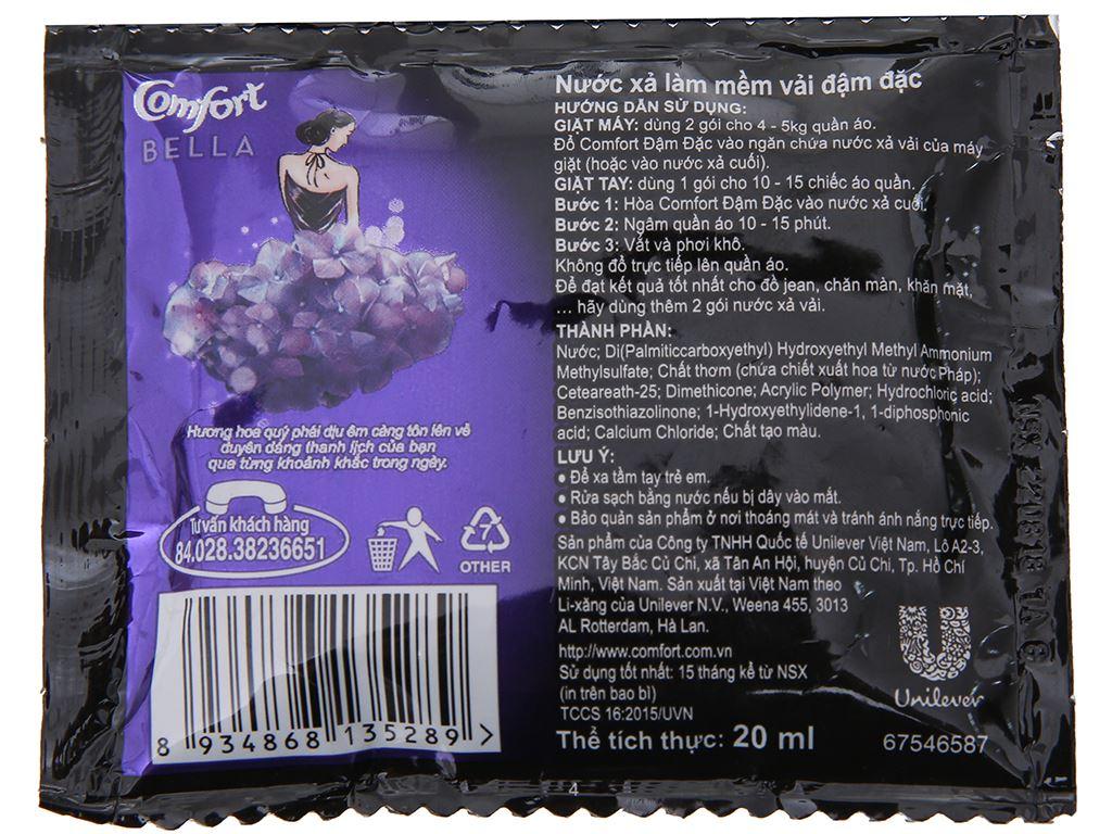 10 gói nước xả vải Comfort hương nước hoa thiên nhiên bella 20ml 3