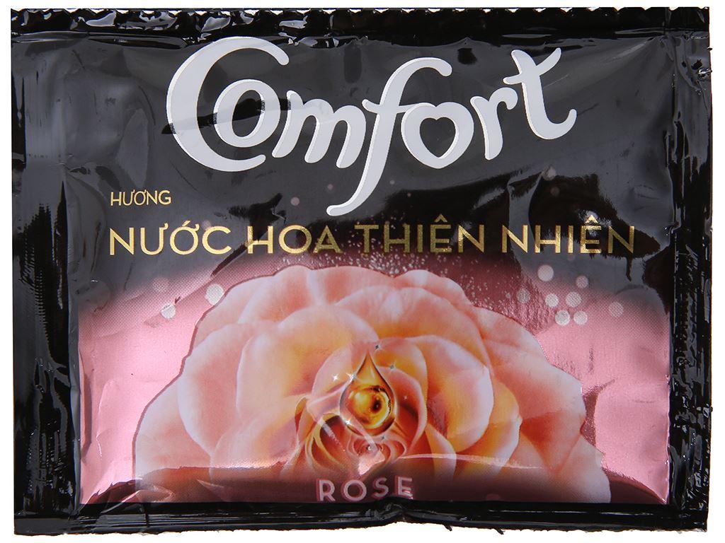 10 gói nước xả vải Comfort hương nước hoa thiên nhiên rose 20ml 2
