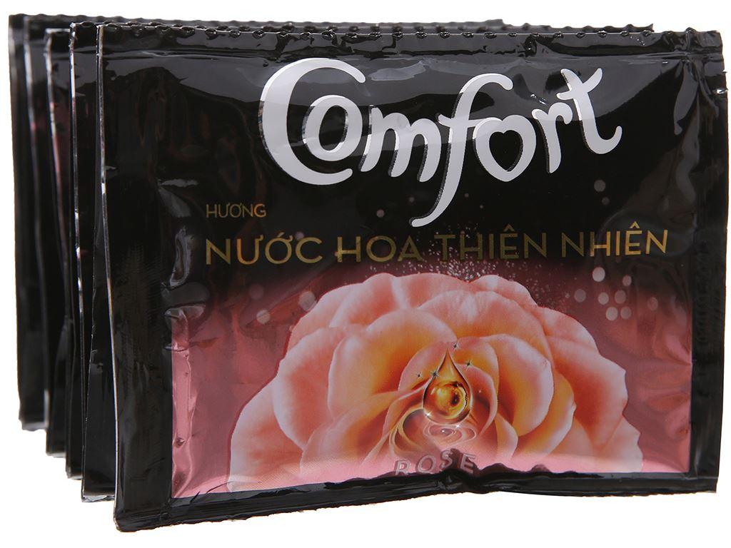 10 gói nước xả vải Comfort hương nước hoa thiên nhiên rose 20ml 4
