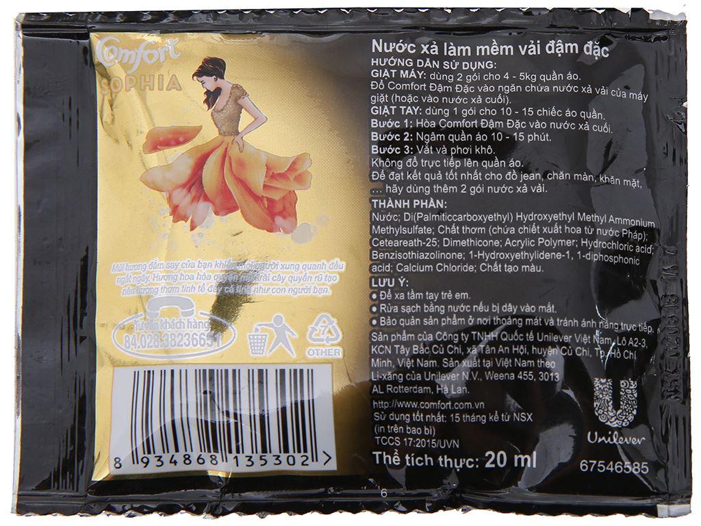 Nước xả vải Comfort nước hoa Sophia dây 10 gói x 20ml 3