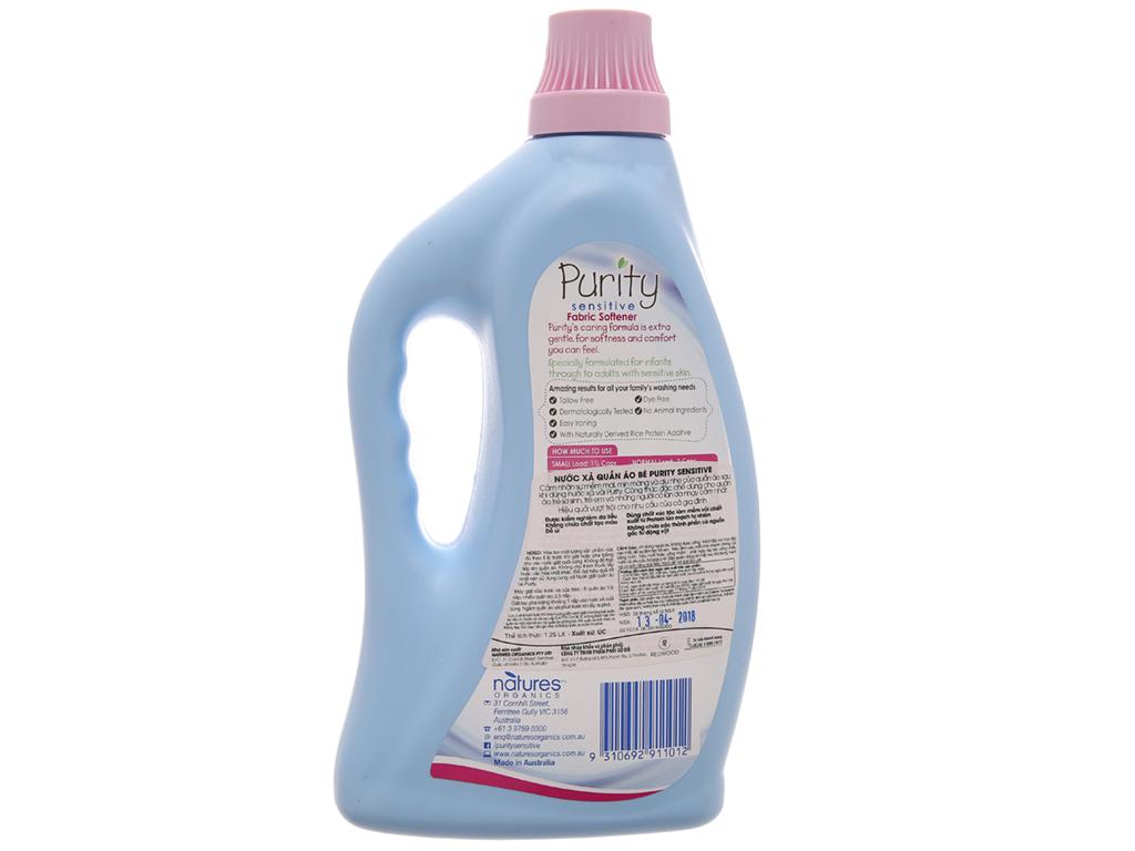 Nước xả vải cho bé Purity Sensitive chai 1.25 lít 2