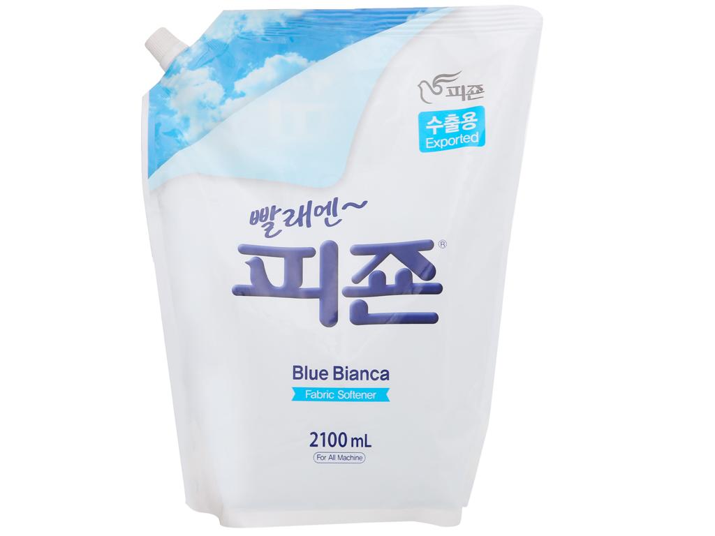 Nước xả vải Pigeon Hàn Quốc hương bianca túi 2.1 lít 1