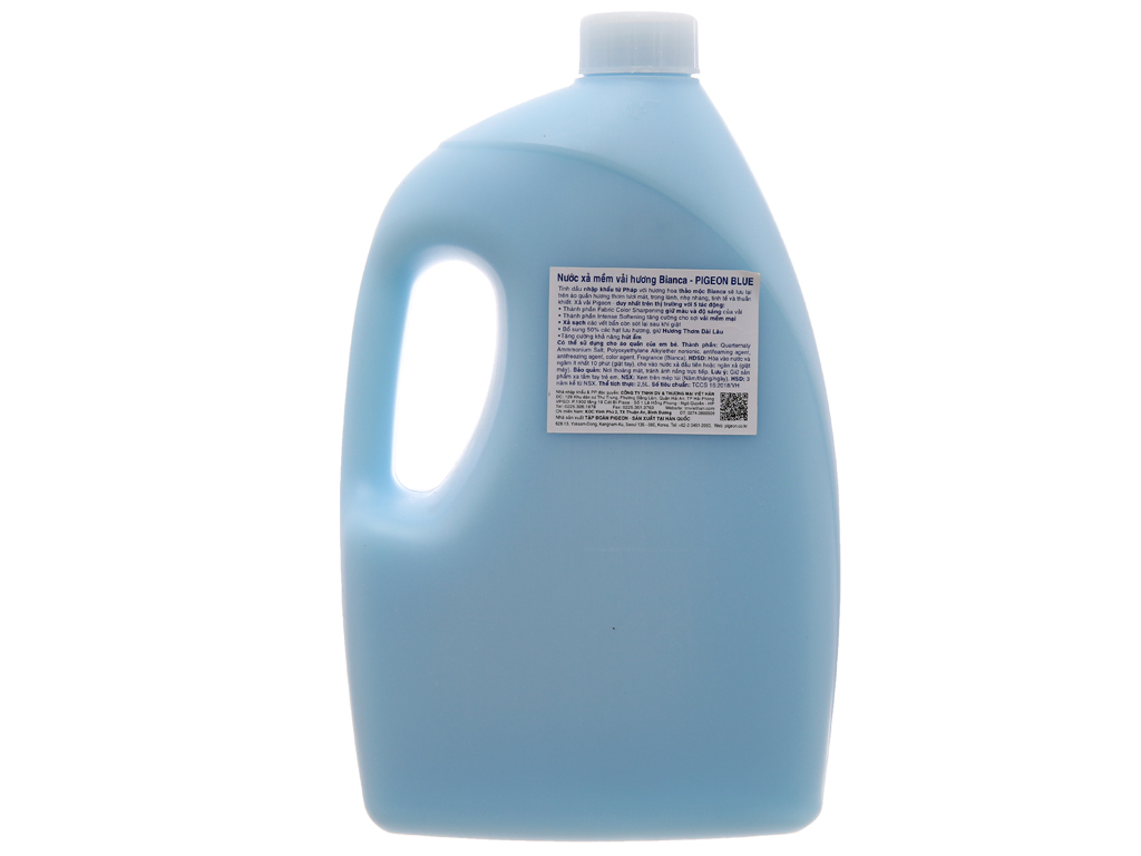 Nước xả vải Pigeon Hàn Quốc hương bianca chai 2.5 lít 2