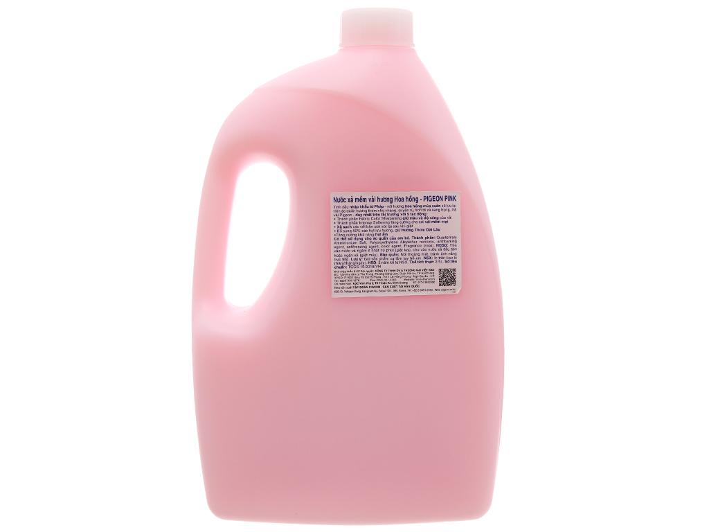 Nước xả vải cho bé Pigeon hương hoa Hồng chai 2.5L 2