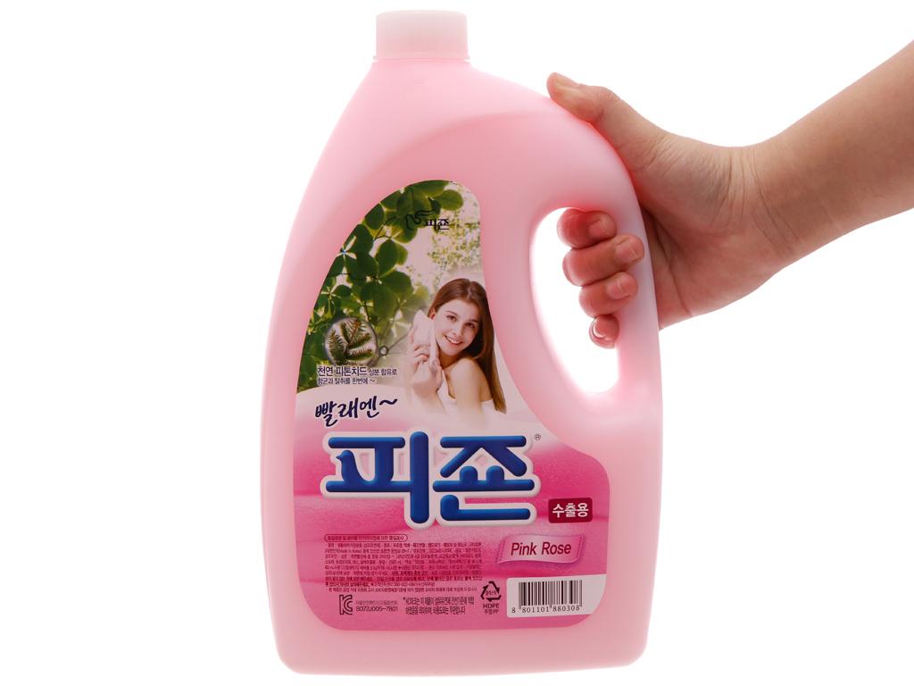 Nước xả vải cho bé Pigeon hương hoa Hồng chai 2.5L 3