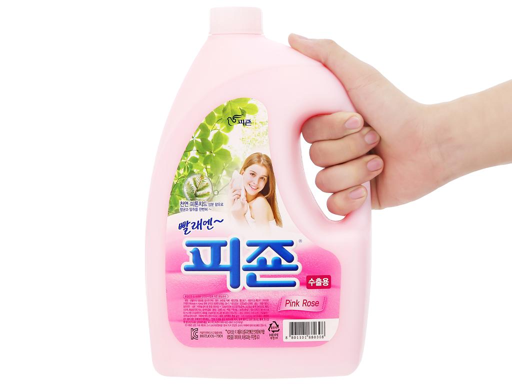 Nước xả vải Pigeon Hàn Quốc hương hoa hồng chai 2.5 lít 4