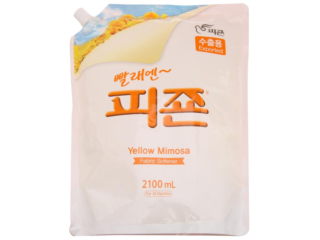 Nước xả vải cho bé Pigeon hương Mimosa túi 2.1L 1