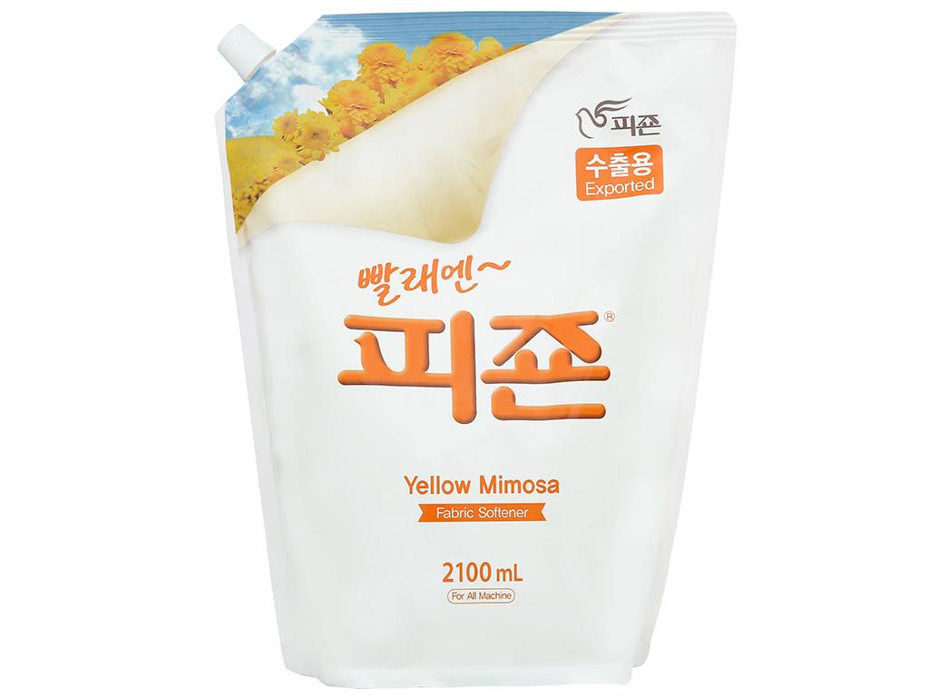 Nước xả vải Pigeon Hàn Quốc hương mimosa túi 2.1 lít 1