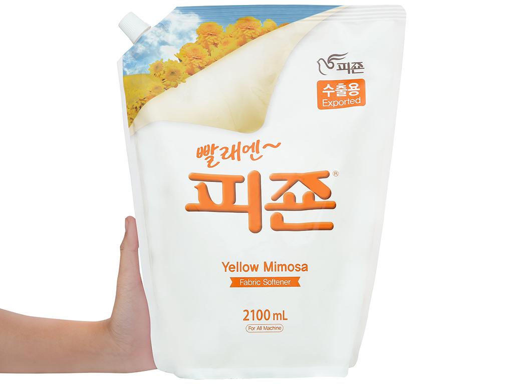 Nước xả vải Pigeon Hàn Quốc hương mimosa túi 2.1 lít 4