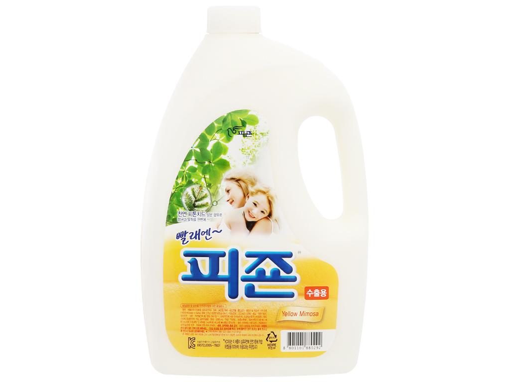 Nước xả vải Pigeon Hàn Quốc hương mimosa chai 2.5 lít 1