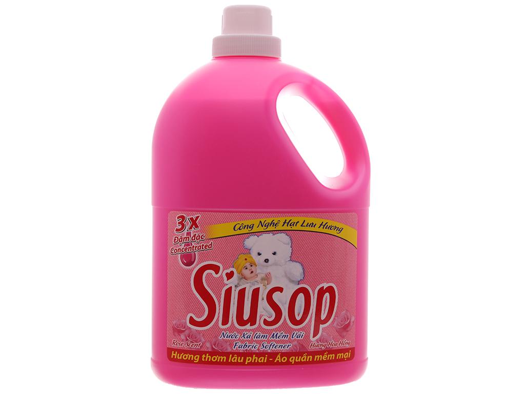 Nước xả vải Siusop 3x đậm đặc hương hoa hồng can 3.8 lít 2