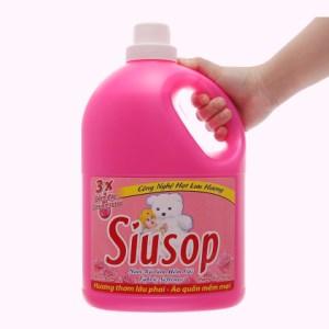 Nước xả vải Siusop 3x đậm đặc hương hoa hồng can 3.8kg