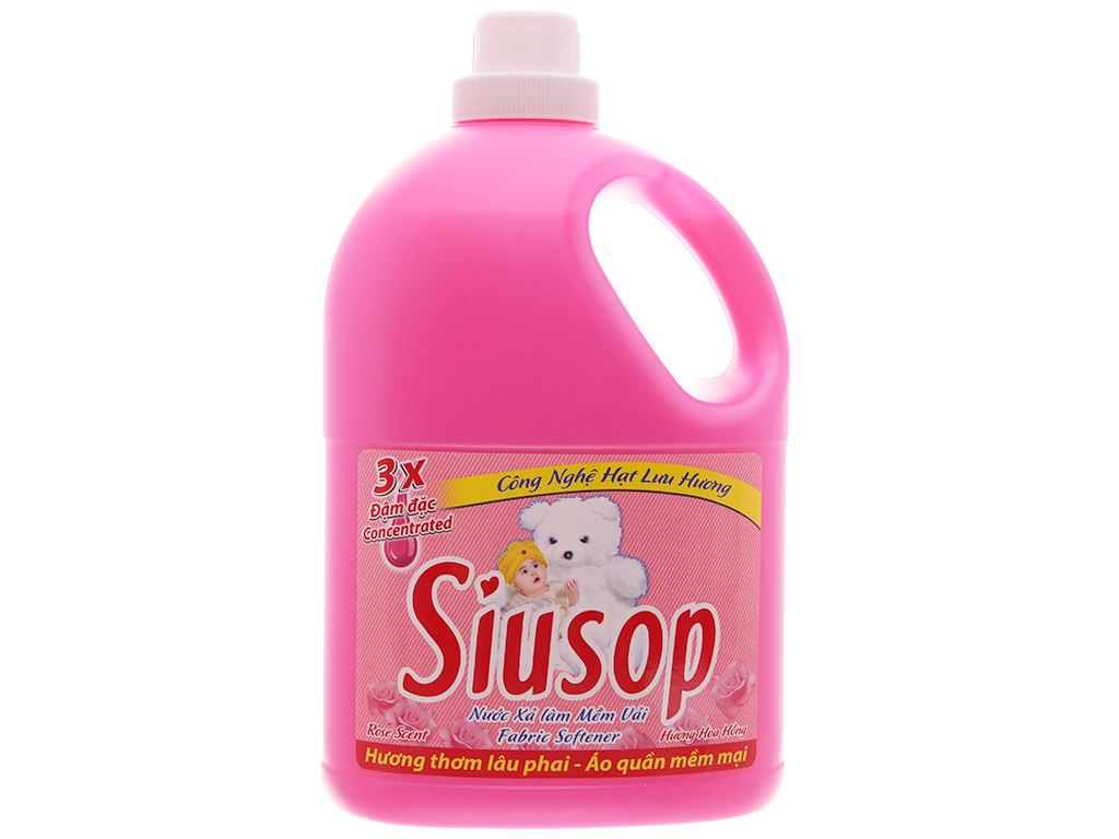 Nước xả vải Siusop 3x đậm đặc hương hoa hồng can 3.8kg 1