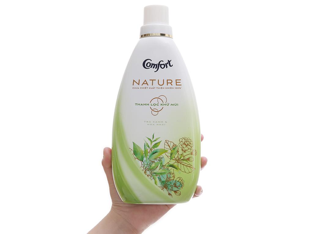 Nước xả vải Comfort Nature chiết xuất trà xanh và hoa nhài chai 800ml 6
