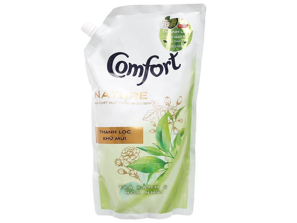 Nước xả vải Comfort Nature chiết xuất trà xanh và hoa nhài túi 1.5 lít 1