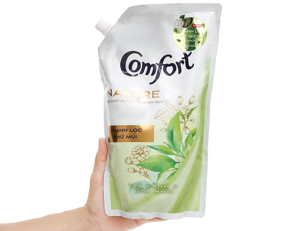 Nước xả vải Comfort Nature chiết xuất trà xanh và hoa nhài túi 1.5 lít 5