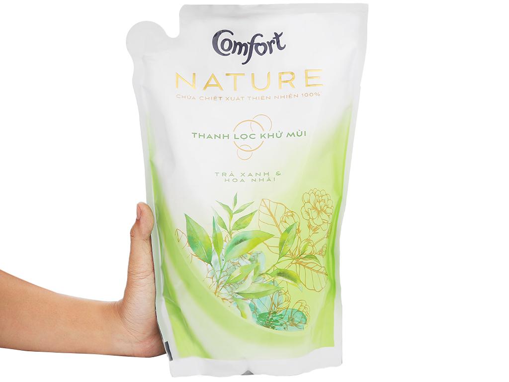 Nước xả vải Comfort Nature chiết xuất trà xanh và hoa nhài túi 1.6 lít 6