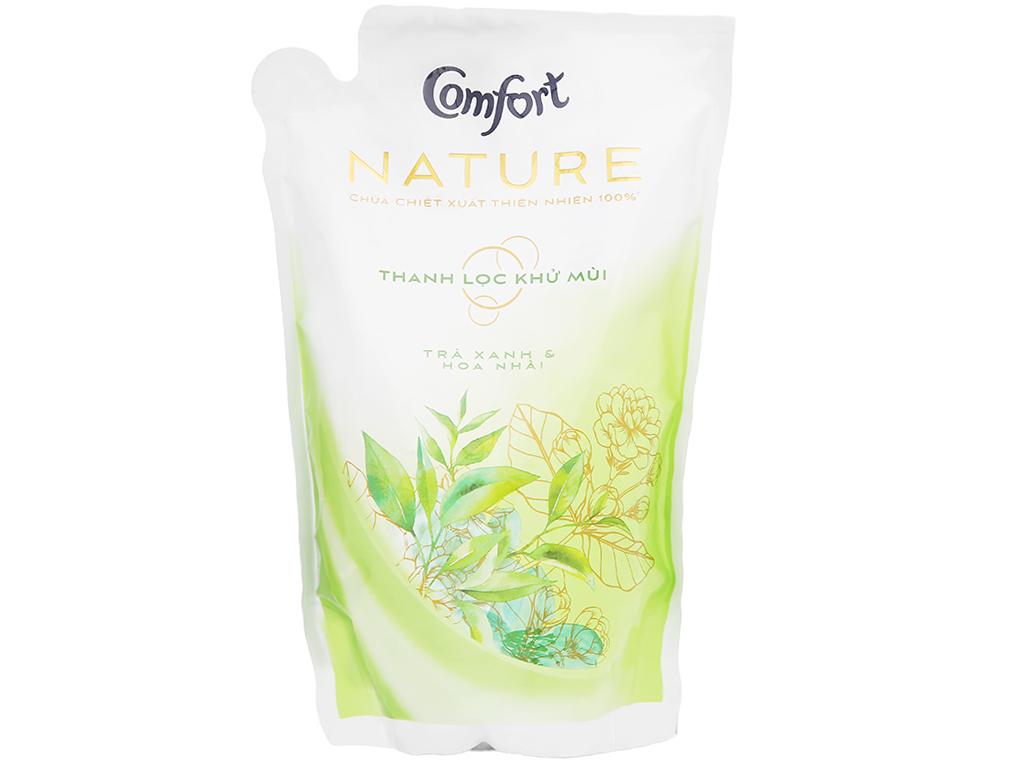 Nước xả vải Comfort Nature chiết xuất trà xanh và hoa nhài túi 1.6 lít 1