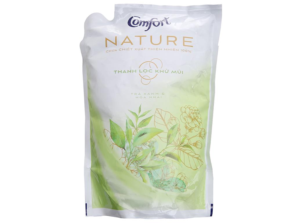 Nước xả vải Comfort Nature chiết xuất trà xanh và hoa nhài túi 1.6 lít 2