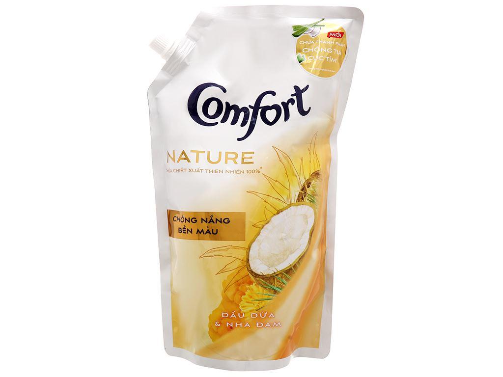 Nước xả vải Comfort Nature chiết xuất dầu dừa và nha đam túi 1.5 lít 1