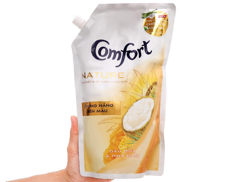 Nước xả vải Comfort Nature chiết xuất dầu dừa và nha đam túi 1.5 lít 5