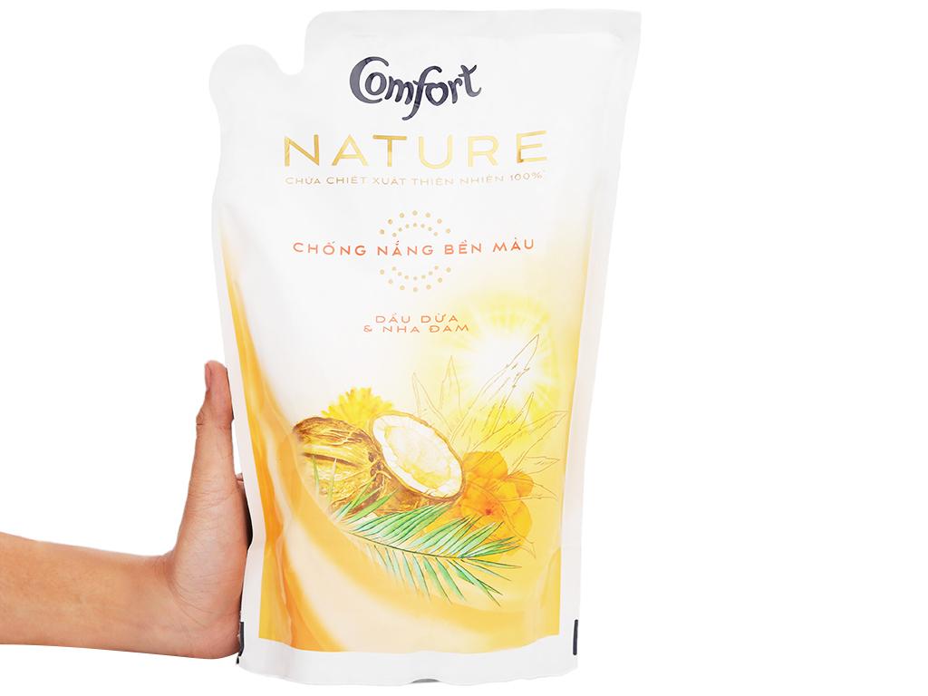 Nước xả vải Comfort Nature chiết xuất dầu dừa và nha đam túi 1.6 lít 6