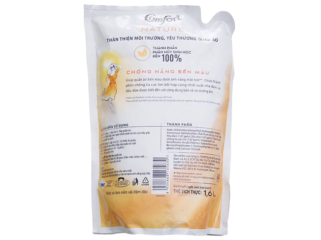 Nước xả vải Comfort Nature chiết xuất dầu dừa và nha đam túi 1.6L 3