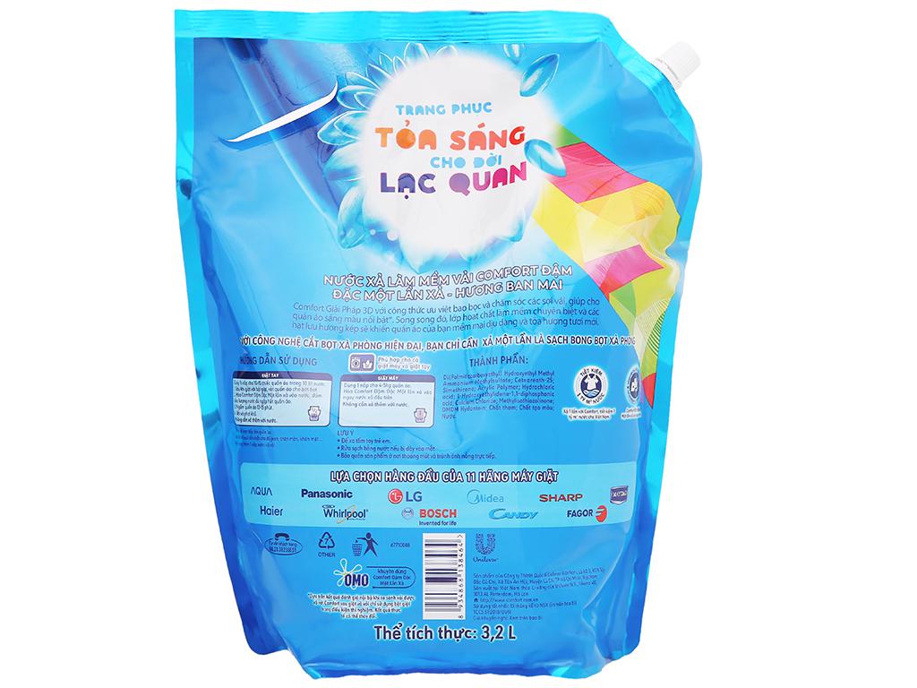 Nước xả vải Comfort một lần xả hương ban mai túi 3.2 lít 4