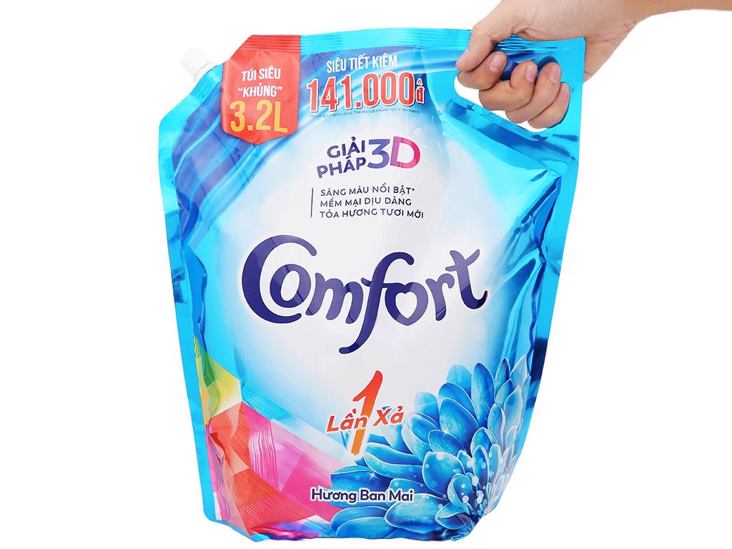 Nước xả vải Comfort một lần xả hương ban mai túi 3.2 lít 7