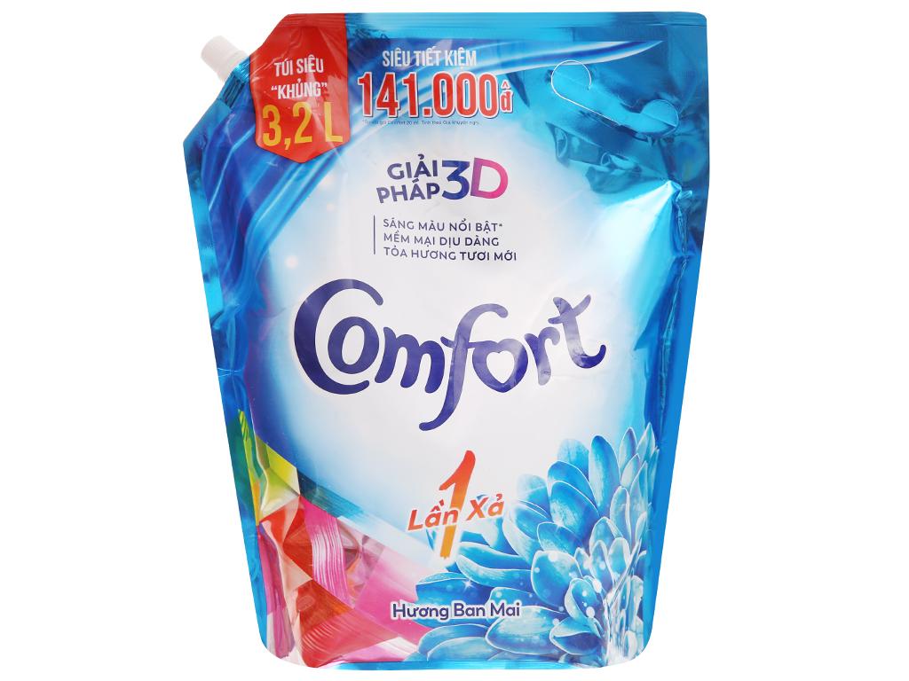 Nước xả vải Comfort một lần xả hương ban mai túi 3.2 lít 1