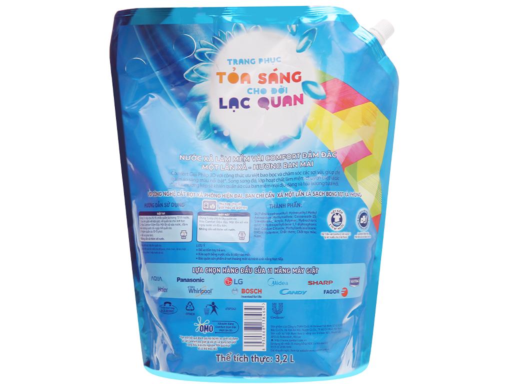 Nước xả vải Comfort một lần xả hương ban mai túi 3.2 lít 2