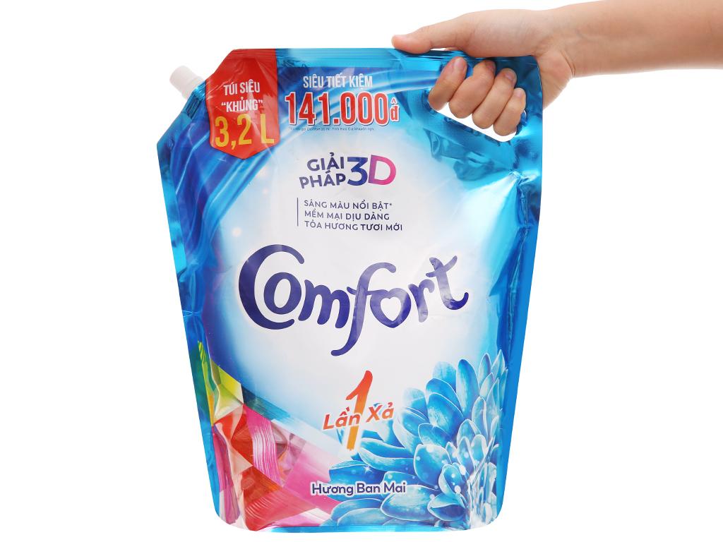 Nước xả vải Comfort một lần xả hương ban mai túi 3.2 lít 5