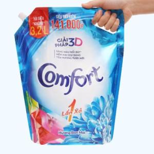 Nước xả vải Comfort một lần xả hương ban mai túi 3.2 lít