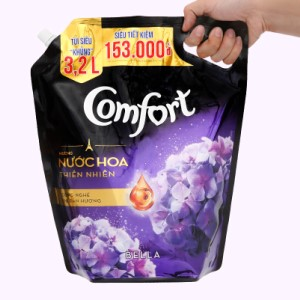 Nước xả vải Comfort hương nước hoa thiên nhiên bella túi 3.2 lít