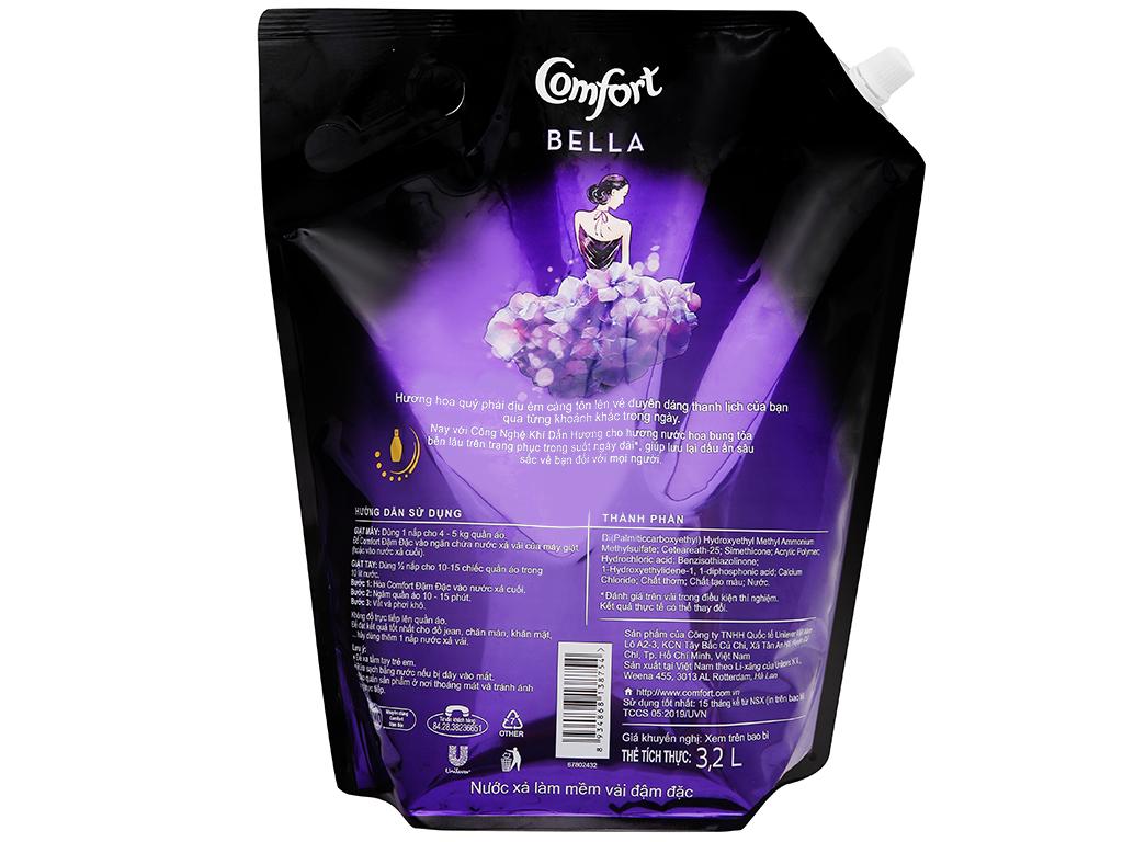 Nước xả vải Comfort hương nước hoa thiên nhiên bella túi 3.2 lít 4