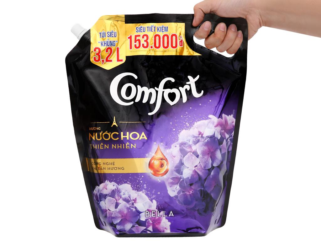 Nước xả vải Comfort hương nước hoa thiên nhiên bella túi 3.2 lít 7