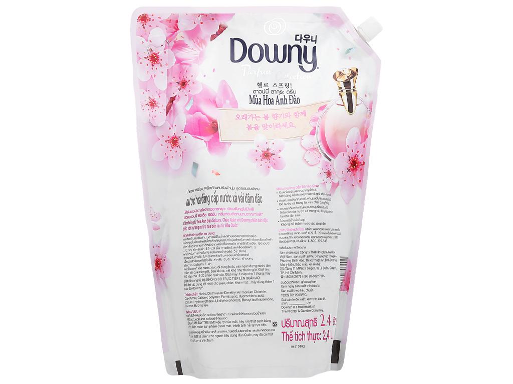 Nước xả vải Downy hương hoa anh đào túi 2.4 lít 4