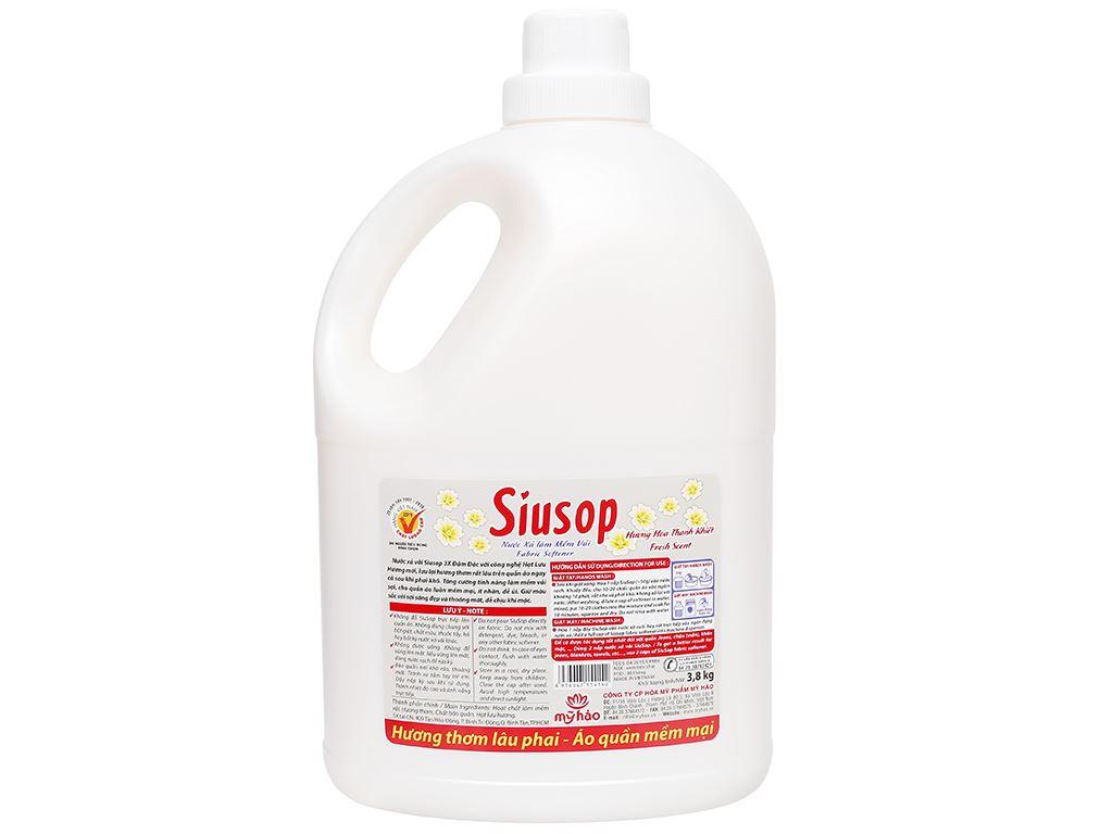 Nước xả vải Siusop 3x đậm đặc hương hoa thanh khiết can 3.8 lít 2