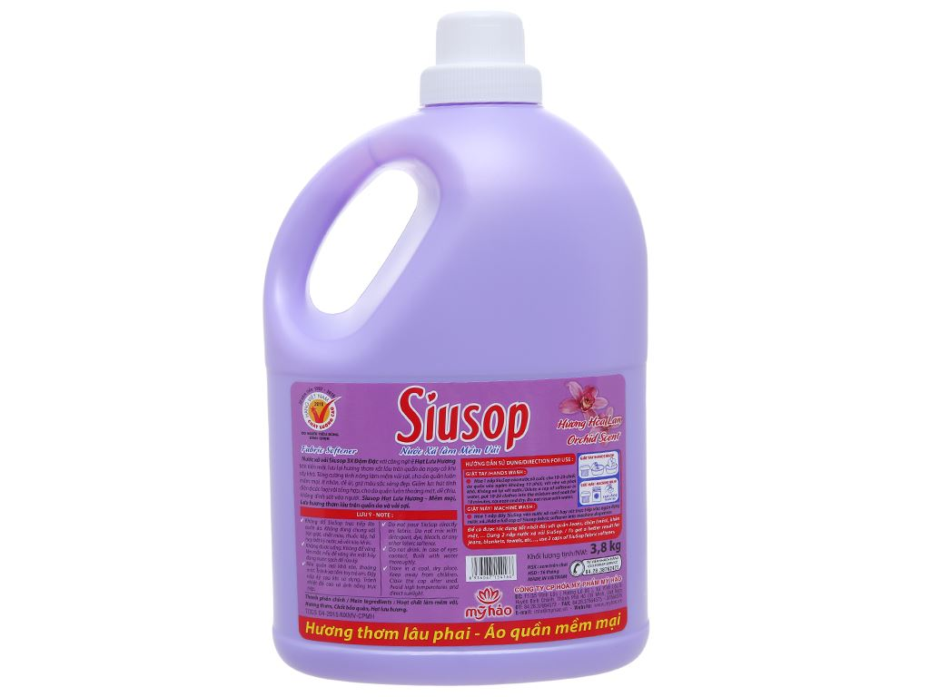 Nước xả vải Siusop 3X đậm đặc hương hoa Lan can 3.8L 2