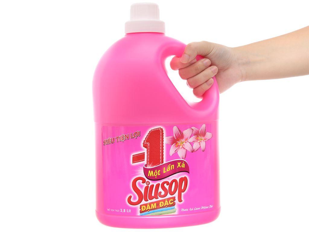 Nước xả vải Siusop một lần xả siêu tiện lợi can 3.8L 4