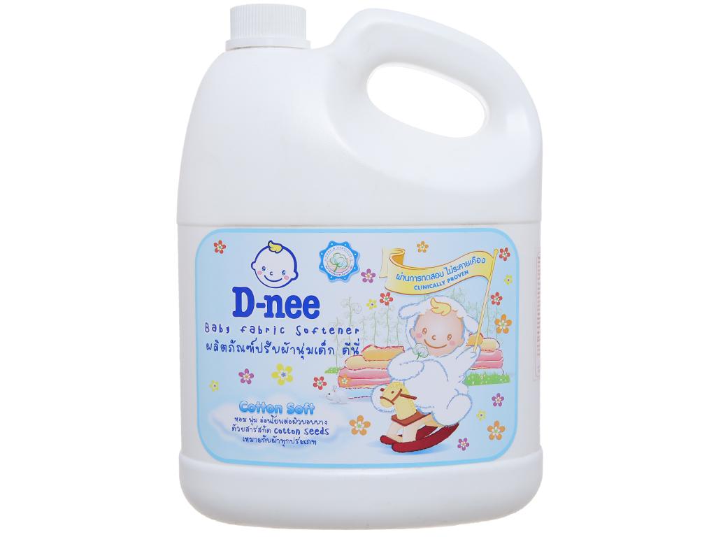 Nước xả vải cho bé D-nee Cotton Soft can 3L 2