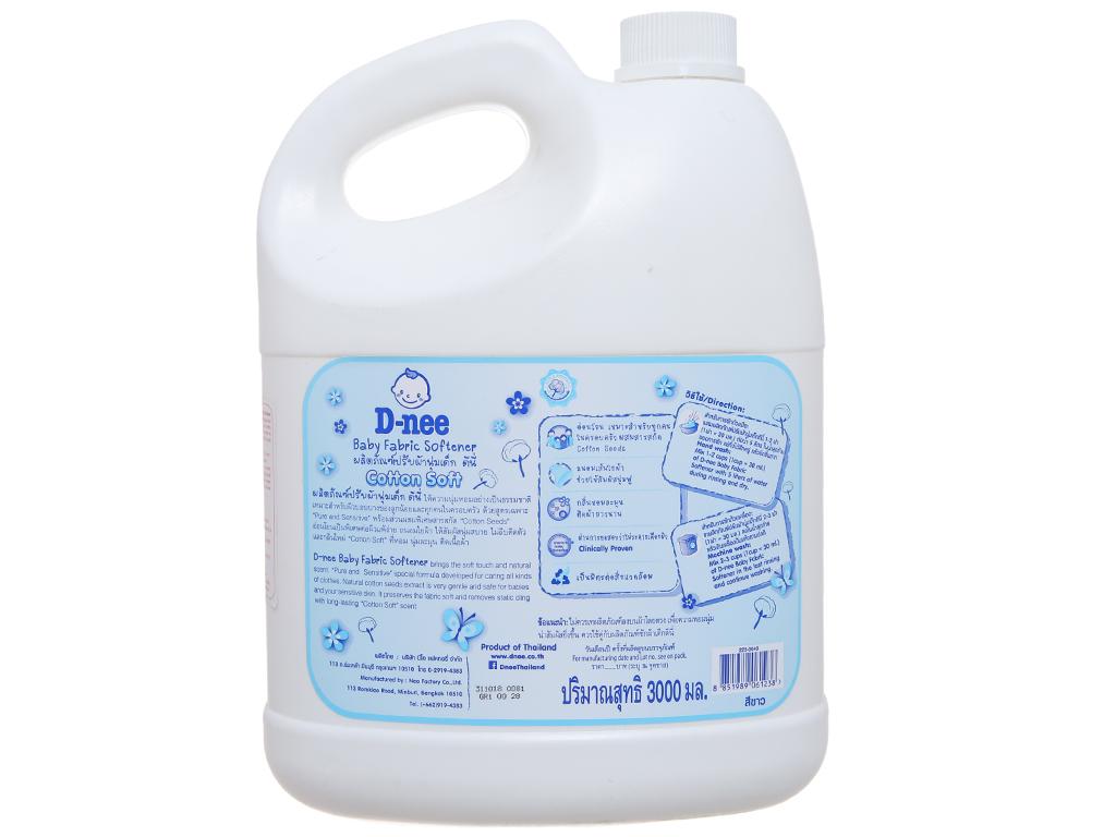 Nước xả vải cho bé D-nee trắng can 3 lít 3